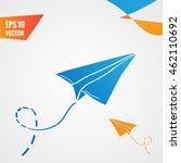 paper planes background | Shutterstock .eps vector #462110692