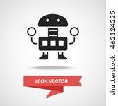 robot icon | Shutterstock .eps vector #462124225
