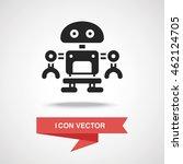 robot icon | Shutterstock .eps vector #462124705