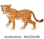 Happy Leopard Cartoon Isolated...