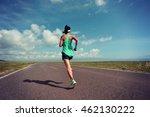 young fitness woman runner... | Shutterstock . vector #462130222