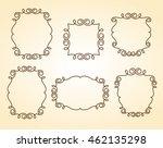 set frames .vintage vector.well ... | Shutterstock .eps vector #462135298