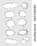hand drawn speech bubbles set... | Shutterstock .eps vector #462146485