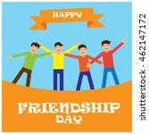 friendship day illustration | Shutterstock .eps vector #462147172