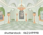 illustration of palace hall | Shutterstock .eps vector #462149998