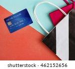 shopping bag credit card concept   Shutterstock . vector #462152656
