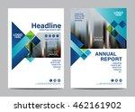 blue brochure layout design... | Shutterstock .eps vector #462161902
