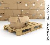 3d rendering of cardboard boxes ... | Shutterstock . vector #462178222