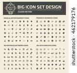 big icon set media icon... | Shutterstock .eps vector #462179176