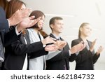 business people clapping their... | Shutterstock . vector #462184732