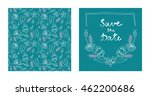 vector wedding invitation with... | Shutterstock .eps vector #462200686