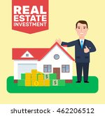 real estate investment concept... | Shutterstock .eps vector #462206512