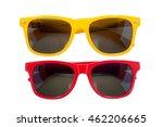 yellow sun glasses isolated... | Shutterstock . vector #462206665