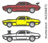 set of muscle car for logo and... | Shutterstock .eps vector #462206872