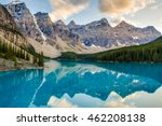 evening at moraine lake in... | Shutterstock . vector #462208138
