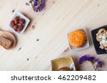 chinesse moon cake with... | Shutterstock . vector #462209482