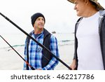 picture of fisherman  | Shutterstock . vector #462217786