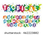 vector of stylized font and... | Shutterstock .eps vector #462223882