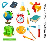 isolated school accessories on... | Shutterstock .eps vector #462224596