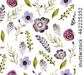 watercolor seamless pattern... | Shutterstock . vector #462225352