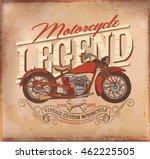motorcycle. vintage motor tee... | Shutterstock .eps vector #462225505