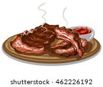 illustration of grilled spare... | Shutterstock .eps vector #462226192