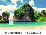 beautiful beach. view of nice... | Shutterstock . vector #462226375
