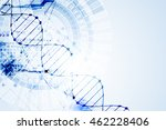 science template  dna molecules ... | Shutterstock .eps vector #462228406