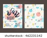 jazz night  poster background... | Shutterstock .eps vector #462231142