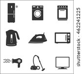 household appliances icon. flat ... | Shutterstock .eps vector #462241225
