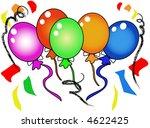 festive party balloons | Shutterstock . vector #4622425