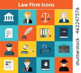 law firm icons | Shutterstock .eps vector #462247576