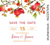 wedding invitation card   with... | Shutterstock .eps vector #462247696