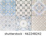 old ceramic tile wall patterns... | Shutterstock . vector #462248242