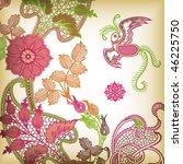 abstract floral bird | Shutterstock .eps vector #46225750