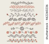 fancy doodle floral borders and ...   Shutterstock .eps vector #462260236