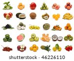 fruit collection. | Shutterstock . vector #46226110