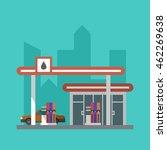 vector flat gas filling station ... | Shutterstock .eps vector #462269638