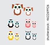 set of cute cartoon animals...   Shutterstock .eps vector #462269926