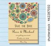 autumn wedding invitation on... | Shutterstock .eps vector #462287032