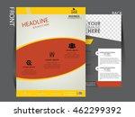 vector flyer  brochure ... | Shutterstock .eps vector #462299392