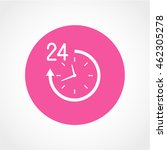 24 hours icon isolated on white ...