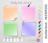 stick note paper  sticker note... | Shutterstock .eps vector #462309202