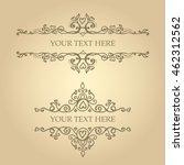 vintage vector ornaments design ... | Shutterstock .eps vector #462312562