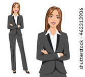 beautiful businesswoman  set of ...   Shutterstock .eps vector #462313906