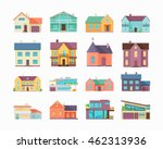 big set of houses  buildings... | Shutterstock .eps vector #462313936