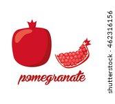pomegranate fruits poster in... | Shutterstock .eps vector #462316156