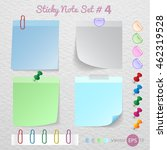 stick note paper  sticker note... | Shutterstock .eps vector #462319528