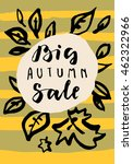 big autumn sale.  simple modern ... | Shutterstock .eps vector #462322966