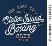 boxing sport typography  t... | Shutterstock .eps vector #462324082